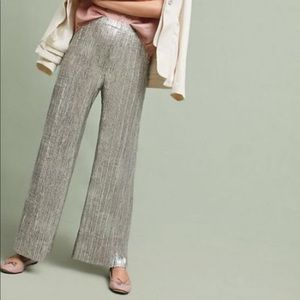 Anthropologie ELEVENSES pants gold glistened XS